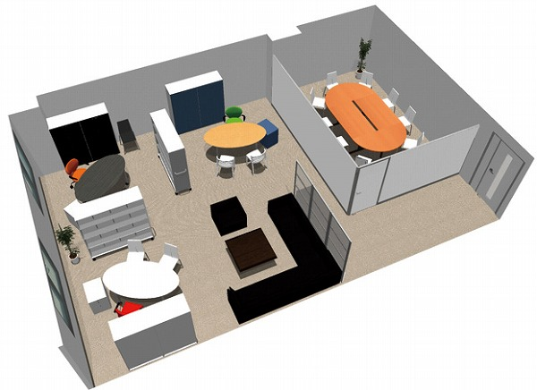 【送料無料】【smtb-TK】【エグゼクティブ】SOHO家具パッケージ・80平米(3人用) 会議室のある役員室【YDKG-tk】【fsp2124】【fs2gm】【fs3gm】