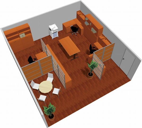 【送料無料】【smtb-TK】【スタンダード】SOHO家具パッケージ・45平米(3人用) 机上空間も有効利用!【YDKG-tk】【fsp2124】【fs2gm】【fs3gm】
