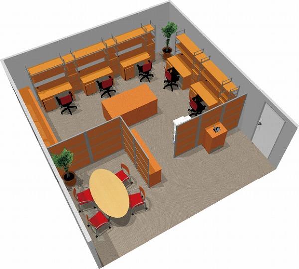 【送料無料】【smtb-TK】【クリエイティブ】SOHO家具パッケージ・45平米(5人用) デスク上部の収納でクリエイティブ空間【YDKG-tk】【fsp2124】【fs2gm】【fs3gm】