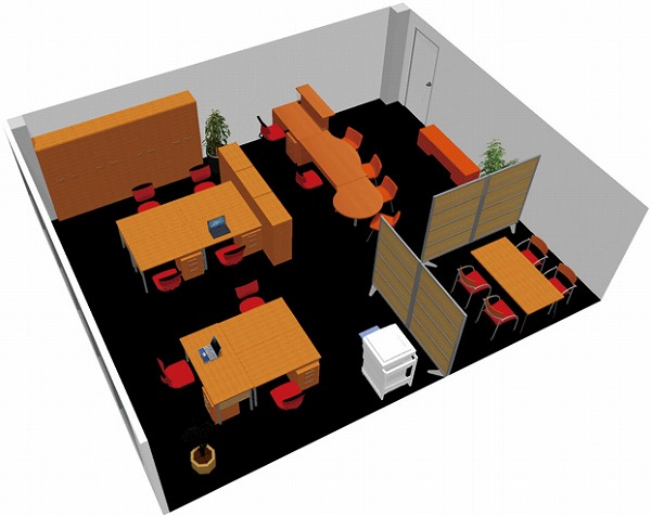 【送料無料】【smtb-TK】【クリエイティブ】SOHO家具パッケージ・60平米(7人用) やさしい木目でトータルコーディネート【YDKG-tk】【fsp2124】【fs2gm】【fs3gm】
