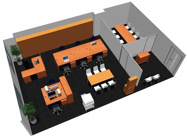 【送料無料】【smtb-TK】【スタンダード】SOHO家具パッケージ・80平米(9人用) ドア付パーテーションで執務エリアと来客エリアを分ける。【YDKG-tk】【fsp2124】【fs2gm】【fs3gm】
