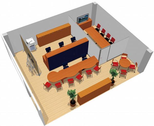 【送料無料】【smtb-TK】【店舗】SOHO家具パッケージ・60平米(5人用) ドア付パーテーションで個室を用意【YDKG-tk】【fsp2124】【fs2gm】【fs3gm】