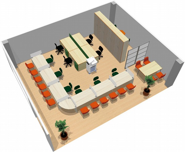 【送料無料】【smtb-TK】【店舗】SOHO家具パッケージ・60平米(6人用) 暖色系の色使いで入りやすい店舗に【YDKG-tk】【fsp2124】【fs2gm】【fs3gm】