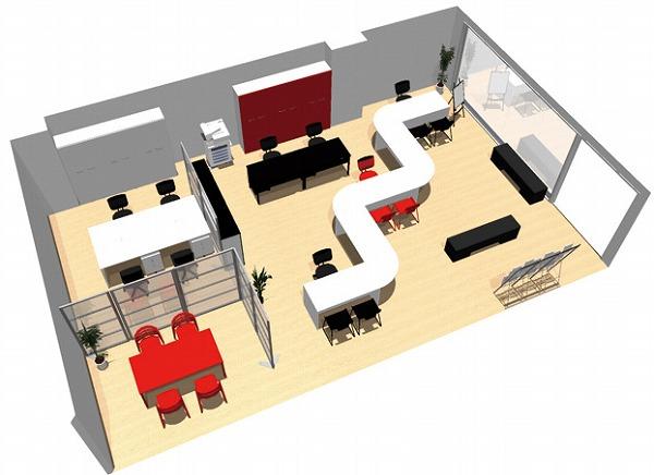 【送料無料】【smtb-TK】【店舗】SOHO家具パッケージ・80平米(6人用) 簡易なパネルで執務エリアと来客エリアを分ける。【YDKG-tk】【fsp2124】【fs2gm】【fs3gm】