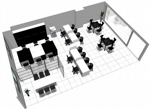 【送料無料】【smtb-TK】【店舗】SOHO家具パッケージ・80平米(6人用) モノトーンのオフィス兼店舗【YDKG-tk】【fsp2124】【fs2gm】【fs3gm】