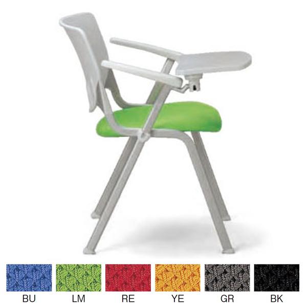 【AICO】ミーティングチェア (メモ台付き両肘 スタッキング 再生PET防汚性張りタイプ) MC-614T【アイコ】 / オフィスチェア、ワークチェア、事務椅子 10P03Sep16