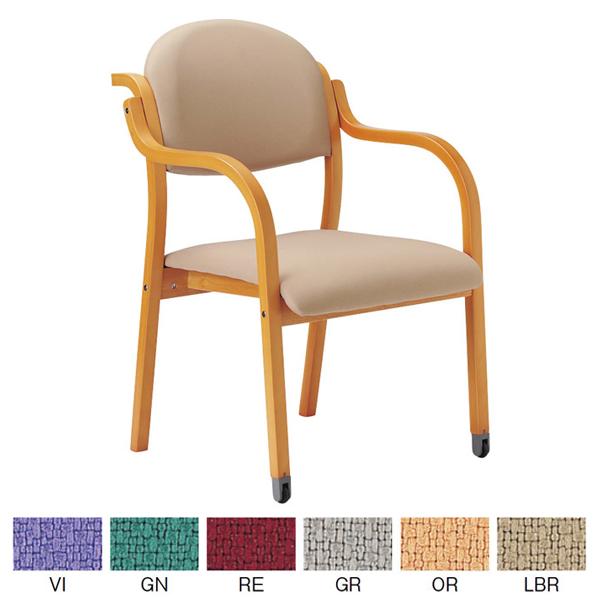 【AICO】ミーティングチェア (肘付き持ち手付き 透湿防水性防汚性布張りタイプ キャスター付) MW-322(FW18)【アイコ】 / オフィスチェア、ワークチェア、事務椅子 10P03Sep16