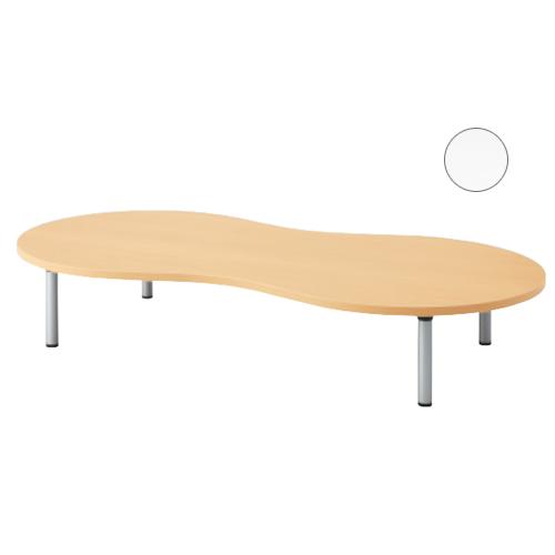 【PLUS】ピーナッツ形 アジャスター脚タイプ(多目的テーブルE5)OE-189-HP-32<W1800×900×H320mm> (学校、教育施設向け)【プラス】 10P03Sep16