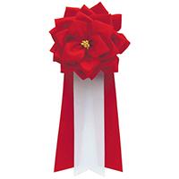 徽章リボン バラ 安い 中 いよいよ人気ブランド 3枚 赤 タレ459-236 10P03Sep16