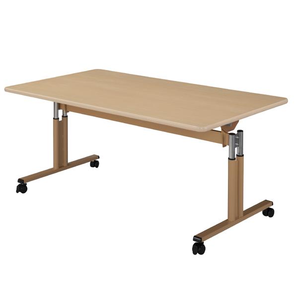 【ハイテクウッド】跳上昇降式テーブル <W1800×D900×H696~796> UFT-TT1890【介護・福祉施設用】 10P03Sep16