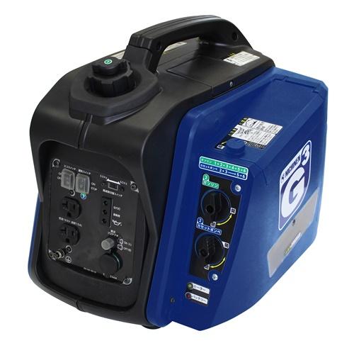 【ニチネン ジーキュービックKG-101】ニチネン インバーター式2WAY自家発電機 安心の保証付 送料無料