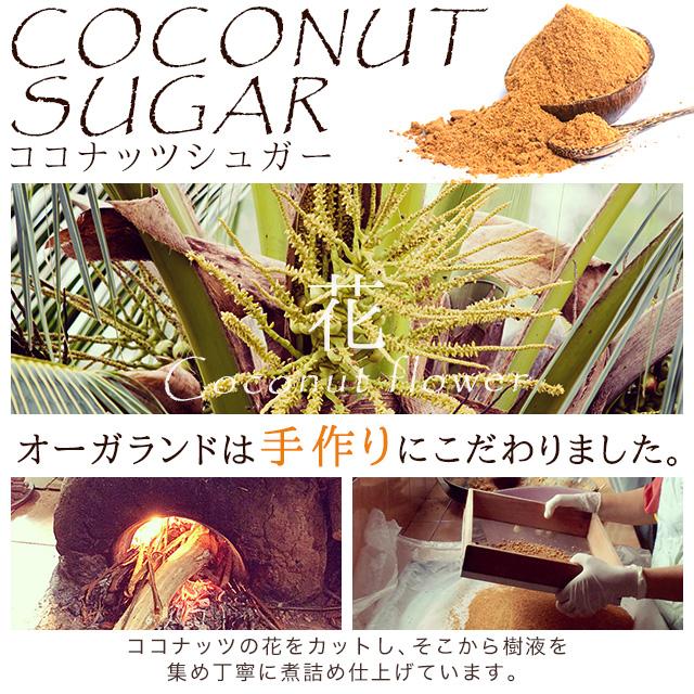 ココナッツシュガー (150g) 砂糖 低GI 天然糖 ココナッツ ココヤシ糖 ココヤシ樹液 スーパーフード ダイエットシュガー オーガランド ダイエット クーポン _在管
