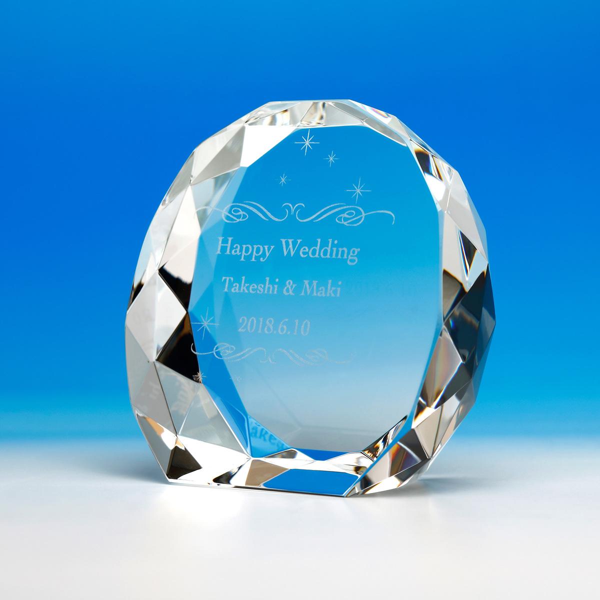 側面のダイヤカットが大変綺麗な表彰楯 小さいながらも存在感があります 送料無料 Lサイズ トロフィー クリスタル 迅速な対応で商品をお届け致します ガラス 名入れ クリスタル楯 表彰状 加工費込 L 記念品 サイズ OGD-007 表彰楯 流行