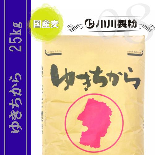 ゆきちから(中華麺用粉) 25kg ※国産麦100%