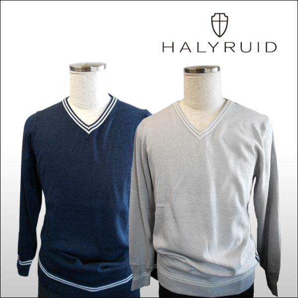 ハリールイド(HALYRUID) ダブルラインVネック セーター