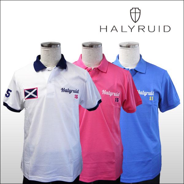 ハリールイド(HALYRUID) 半袖 スコットランドロゴ ポロシャツ