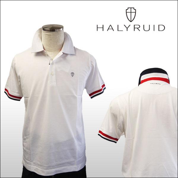 ハリールイド(HALYRUID) 半袖 トリコロールリブ配色 ポロシャツ