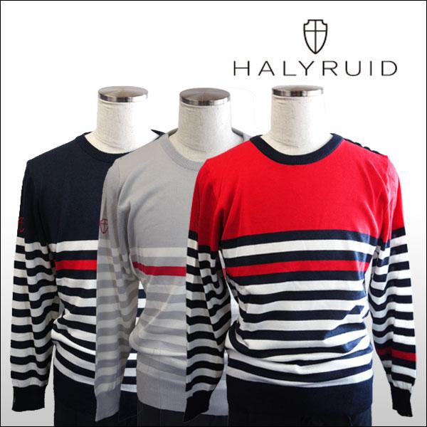 ハリールイド(HALYRUID) ショルダーボタンボーダー セーター