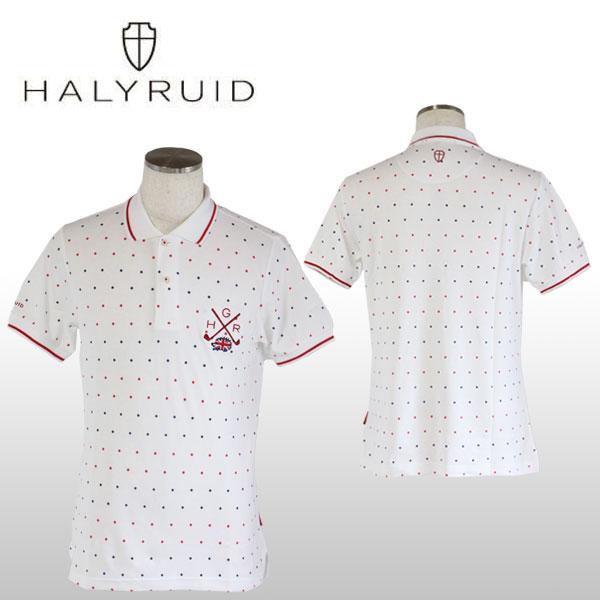 ハリールイド(HALYRUID) ドット 半袖ポロシャツ メンズ