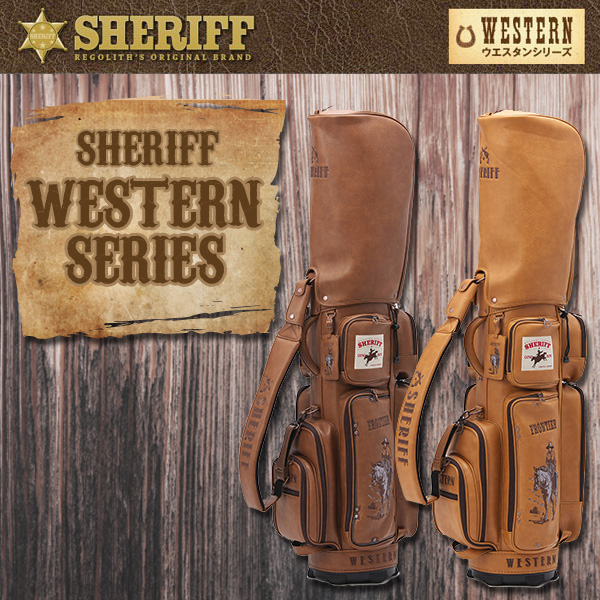シェリフゴルフ (SHERIFF) ウェスタンシリーズ キャディバッグ 限定生産 シェリフ カート CB【限定70本】