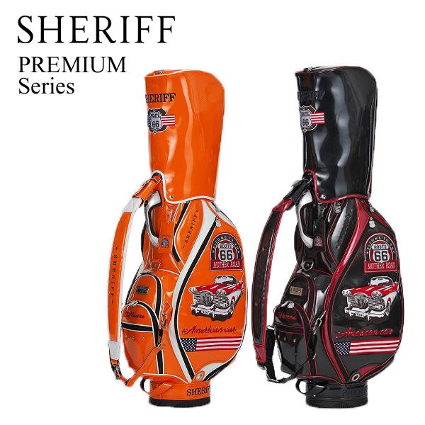 シェリフ プレミアム アメリカンシリーズ キャディバッグ SP-003 SHERIFF PREMIUM カートCB【限定30本】