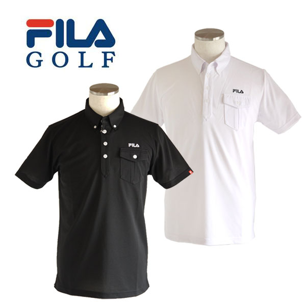 【30%OFFセール】 フィラゴルフ (FILA GOLF) ポケット付き 半袖ポロシャツ メンズ 2017春夏 2017SSap_SALE