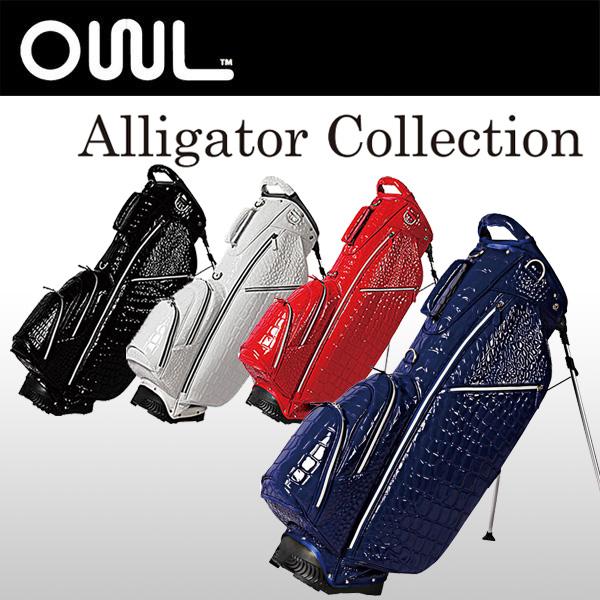オウル (OUUL) スタンド キャディバッグ アリゲーター 8.5型 47インチ Alligator 5WAY STAND BAG 【EVEN掲載商品】