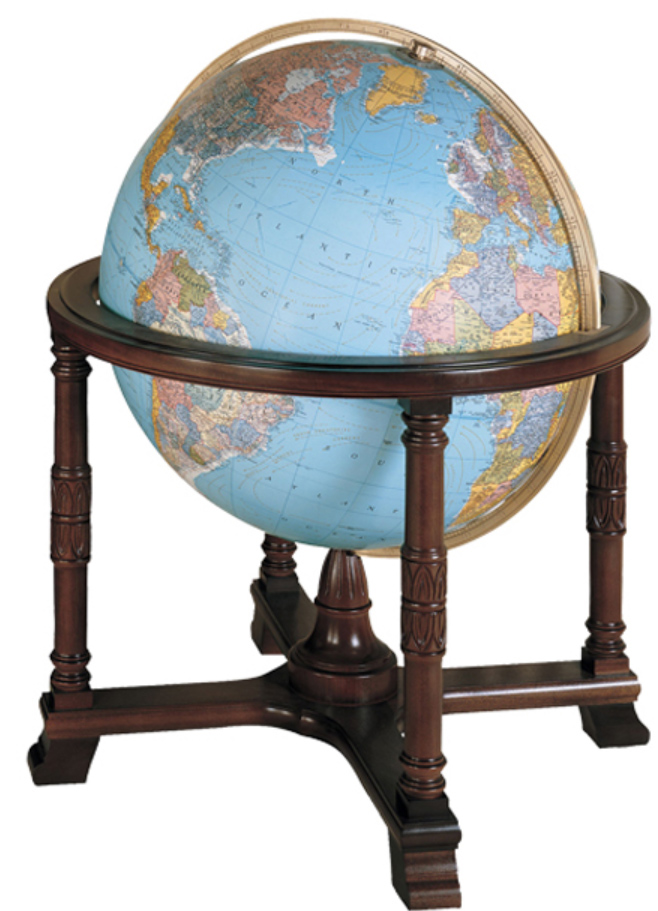 リプルーグル地球儀 ディプロマット型 65307 英語版 球径81cmの照明付地球儀
