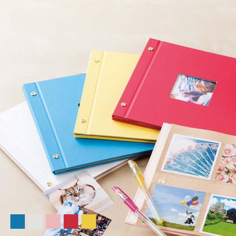 89×89mmのましかく入ります 書き込みできるポケット台紙 ナチュラルで可愛いクラフト紙ましかく写真80枚収納 2020春夏新作 アルバム セキセイ ハーパーハウス 受注生産品 ましかくアルバム 〈フレーム〉XP-8910