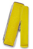 【送料無料】高級印材 黄水晶 サニーケースセット 18mm  【印鑑 実印 はんこ】