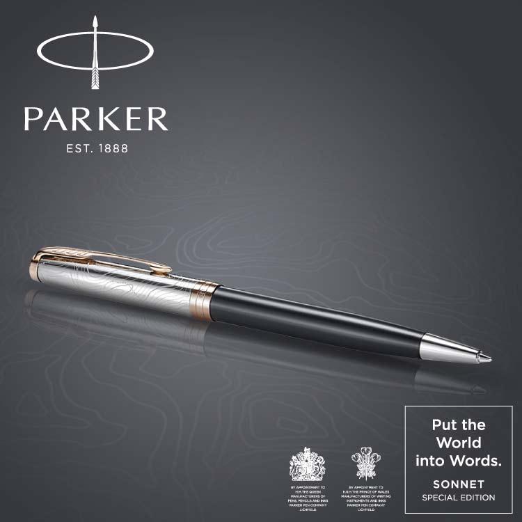 パーカー ソネット スペシャルエディション PUT THE WORLD INTO WORDS ストレーターPGT(限定品) ボールペン