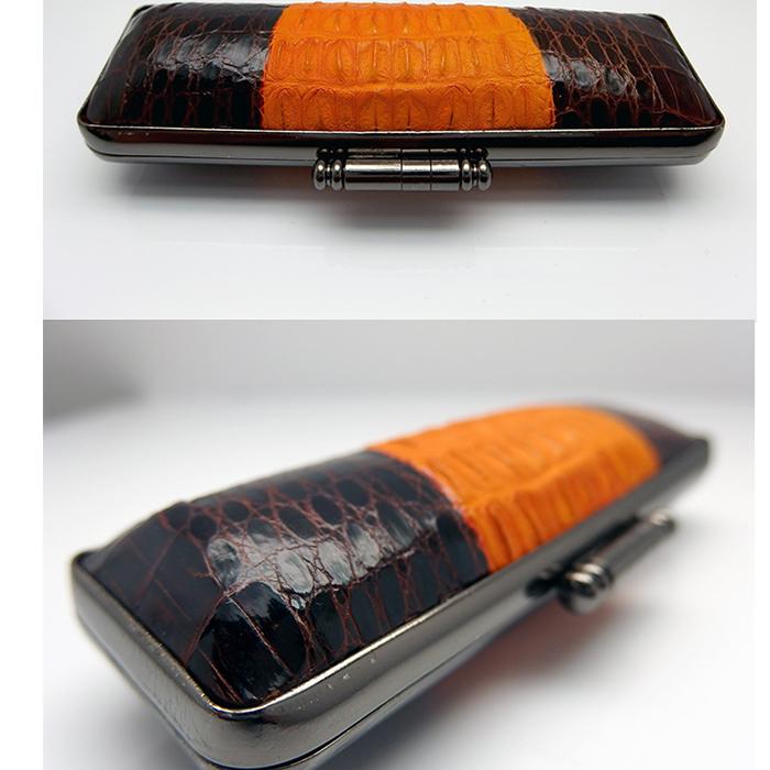 印鑑ケース【送料無料】【特価品です】高級背ワニ横取り 13.5mm-15mmまでの印鑑が入ります