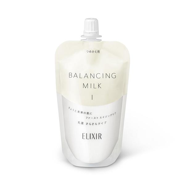 皮脂と水分のバランスを整え 毛穴の目立たないすこやかな肌を保つ乳液 エリクシール 予約販売 ルフレバランシング ミルク1 男女兼用 つめかえ用