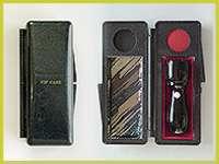 会社銀行印 黒水牛16.5mm「VIP印鑑ケース付き」