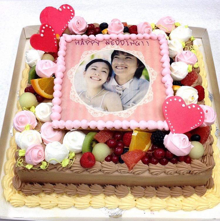 パーティーケーキ 写真ケーキ 大きいケーキ バースデーケーキ お誕生日 パーティー 記念日 サプライズ 生チョコレート 12号
