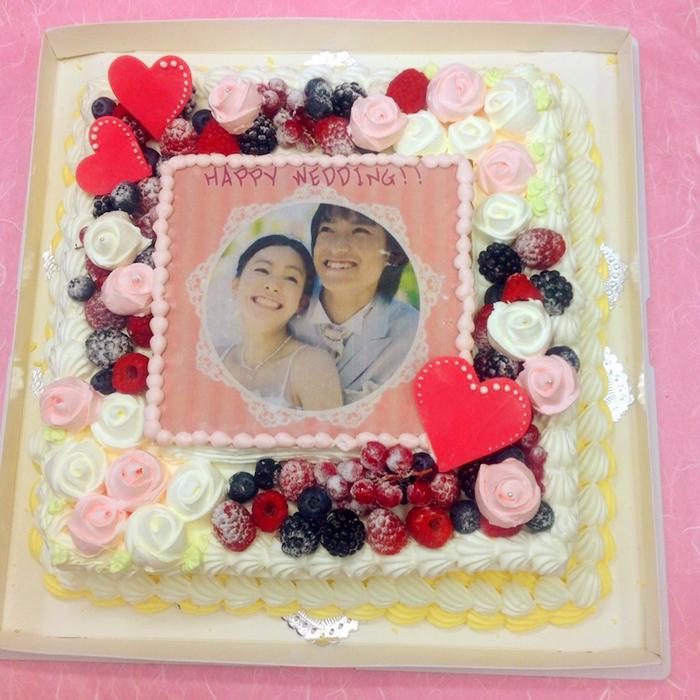 パーティーケーキ 写真ケーキ 大きいケーキ バースデーケーキ お誕生日 パーティー 記念日 サプライズ 生クリーム 10号
