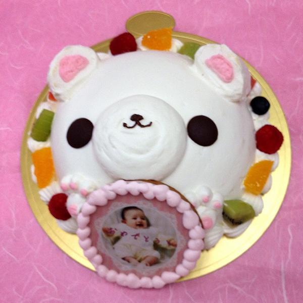 写真ケーキ スイートベアー くま ケーキ バースデーケーキ お誕生日 パーティー こどもの日 記念日 サプライズ 生クリーム8号