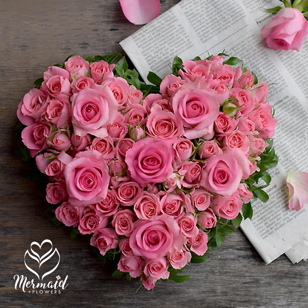 ハート ローズアレンジ 誕生日 送料無料 結婚祝い プロポーズ 誕生日 結婚記念日 母の日 お母さんへのプレゼント Mothersday 2019 祝い ギフト 誕生日 女性 送別 歓迎 退職祝い 母 誕生日