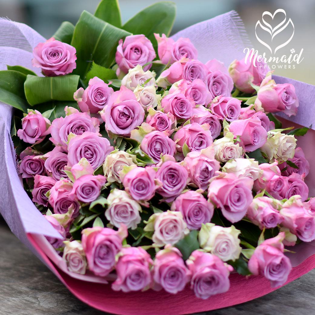 花 誕生日 結婚祝い 記念日 お礼 還暦 古希 傘寿 卒寿 パープルローズ バラ 母 金婚式 銀婚式 誕生日プレゼント 送料無料 母の日 お母さんへのプレゼント Mothersday 2019 祝い