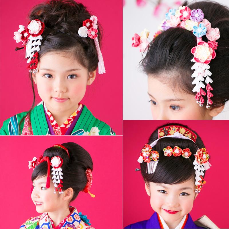 Yaesu plum kanzashi – both ornament set