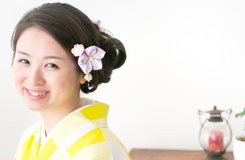 Large flower Kikyo hairclip