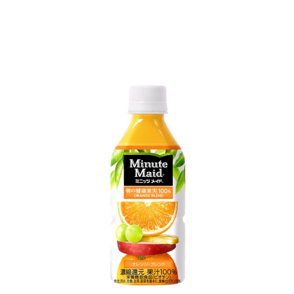 【送料無料】【3ケースセット】ミニッツメイドオレンジブレンド350mlPET 72本果汁飲料フレーバー みかん 果汁ジュース 箱 ペットボトルケース