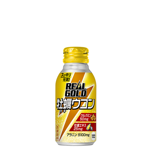 【送料無料】【3ケースセット】リアルゴールド牡蠣ウコン 100mlボトル缶3箱 90本