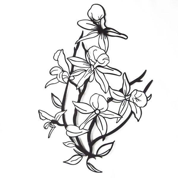 【代引き・同梱不可】かわ畑 壁飾り ウォールアート 花 1507TSF002