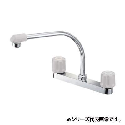 【代引き・同梱不可】三栄 SANEI U-MIX ツーバルブ台付混合栓 K61D-LH-13