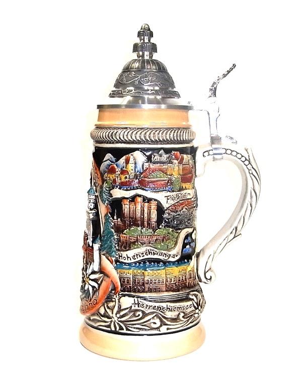 ZB ドイツビアジョッキ ビール 500ml マルチカラー パノラマドイツ 製造数限定【送料無料】【楽ギフ包装】