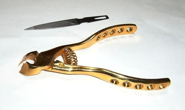 卸直営 プレミアムニッパー爪切 売れ筋 オール純金メッキ 日本製 ゆうパケット便送料無料 巻き爪も楽々カット