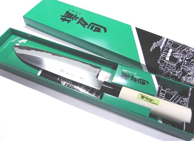 堺刀司重光收成三用菜刀18cm雙刃日本製造堺刀司立即交納!