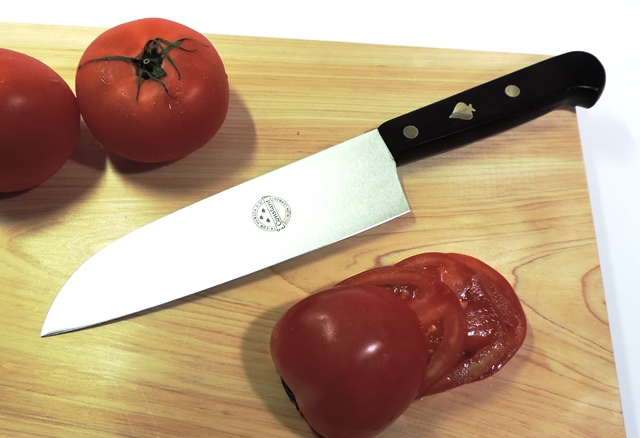 "Solingen (Germany) ♠ F... harder santoku knife 18 cm ""in thin slices, Nakiri, good use! ""Prompt delivery!"