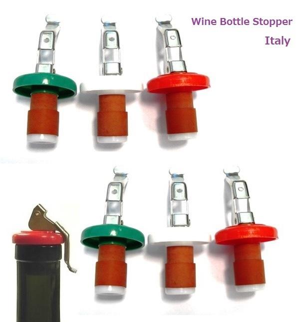 """Giden 日本) 酒瓶塞子密封塞子意大利国旗颜色设置两个""""甚至有些有用的到开瓶器 OK !""""交货及时 !"""